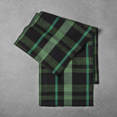 Woven Plaid Table Runner - Green/Black - Hearth & Hand™ with Magnolia