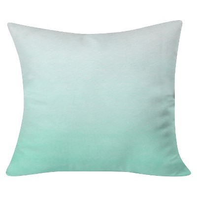 "Green Social Proper Mint Ombre Throw Pillow (20""x20"") - Deny Designs"