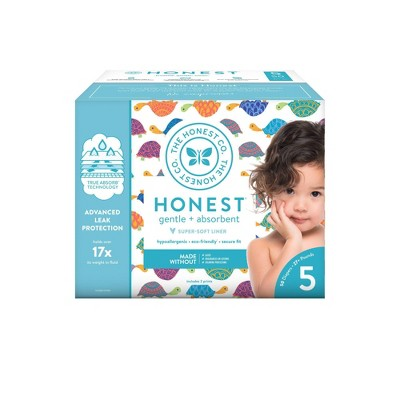 The Honest Company Happy Together Club Box Disposable Diapers - Size 5 (50ct)