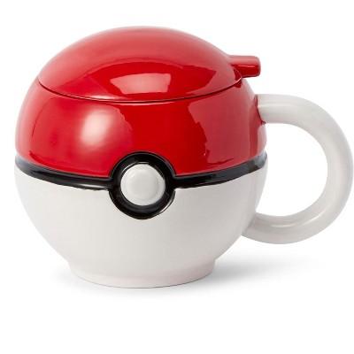 Just Funky Pokemon Pokeball Mug with Lid