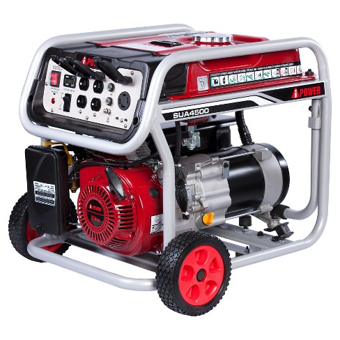 4500 Watt Gasoline Powered Portable Generator Manual Start - A-iPower