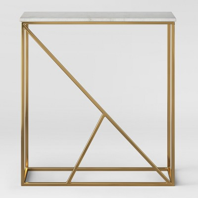 Highfield Console Table White Marble/Brass Fully Assembled - Project 62™