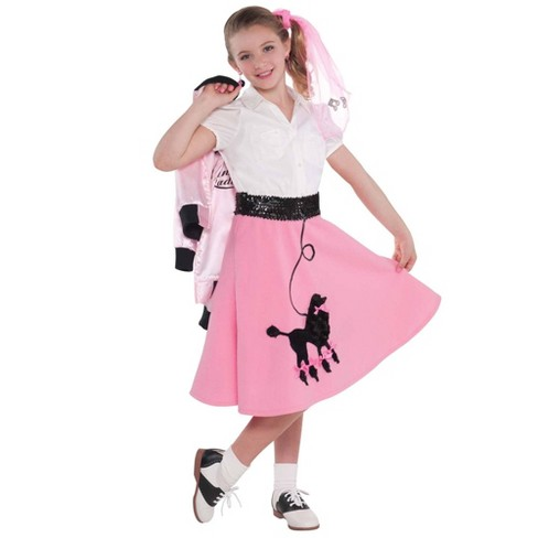 Brand New Adult 50/'s Hop with Poodle Skirt Halloween Costume