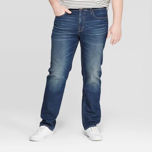 Men's Big & Tall Regular Slim Straight Fit Jeans - Goodfellow & Co™ Medium Blue - image 1 of 3