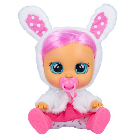 """Cry Babies Dressy Coney 12"""" Baby Doll - Pink Hair - image 1 of 4"""