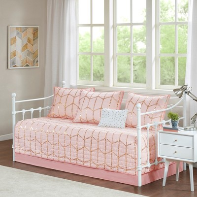 6pc Arielle Printed Daybed Set Blush