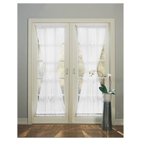 Emily Extra Wide Sheer Voile Patio Door Curtain Target