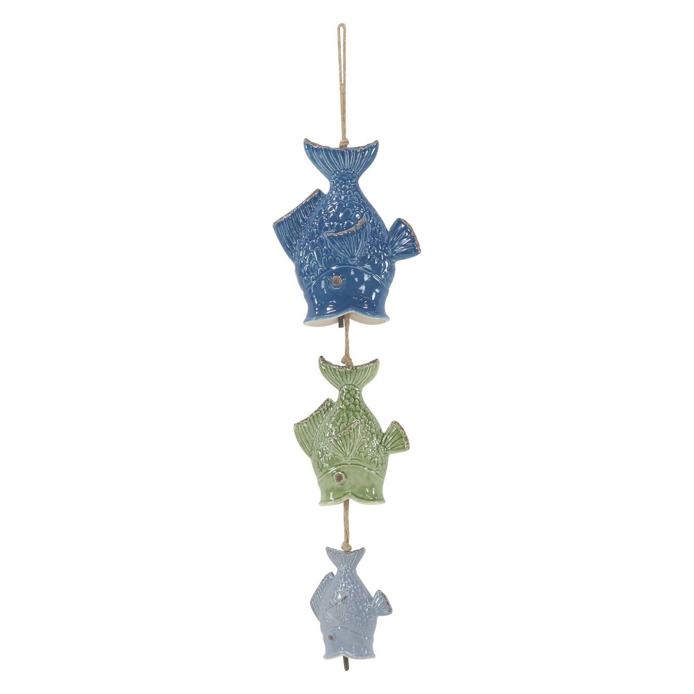 30H Wood Wind Chime - Olivia & May, Multi-Colored