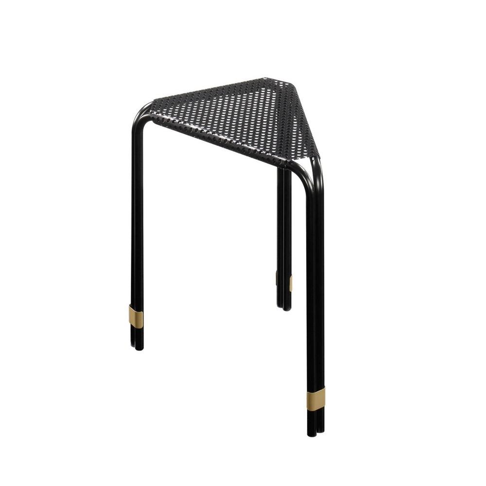 Image of Boulevard Cafe Triangular Side Table Black - Sauder