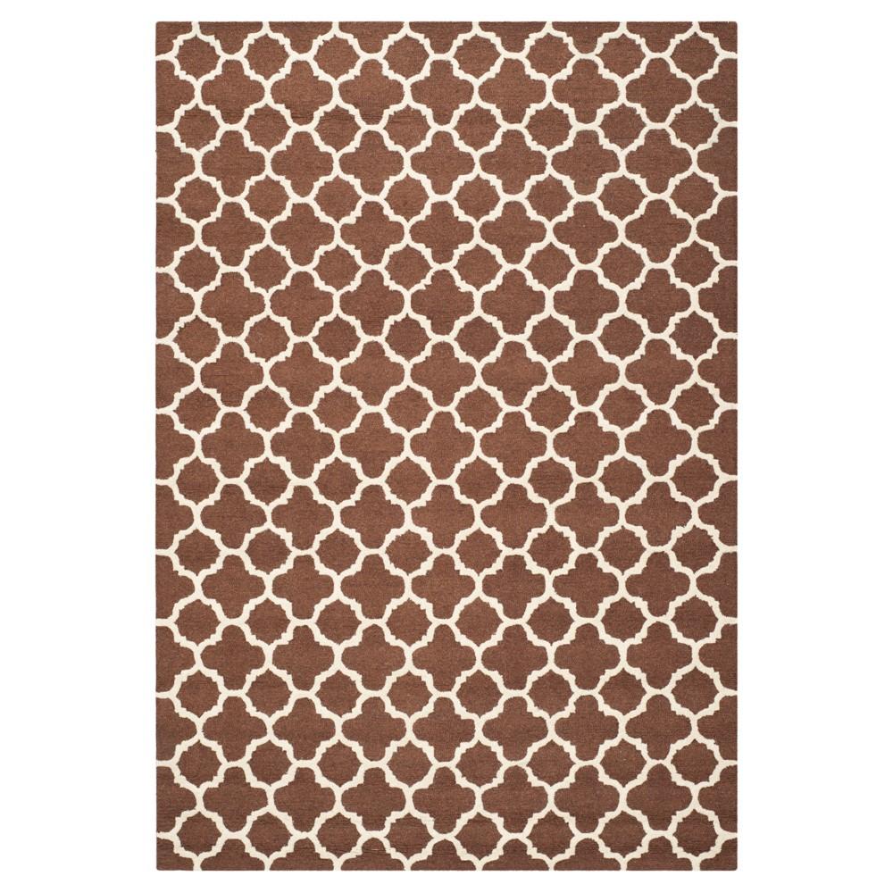 Buy 8X10 Geometric Area Rug Dark Brown - Safavieh
