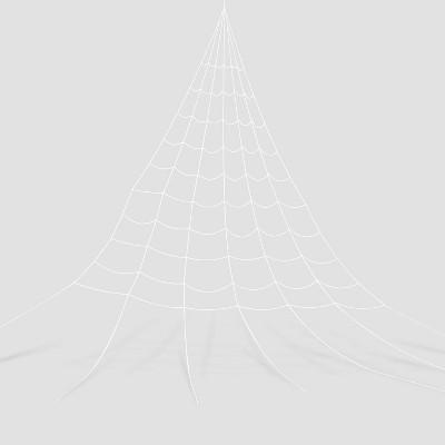 25' Mega Spiderweb White Halloween Decorative Prop - Hyde & EEK! Boutique™