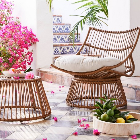 Cool Borealis Stackable Patio Papasan Chair Opalhouse Andrewgaddart Wooden Chair Designs For Living Room Andrewgaddartcom