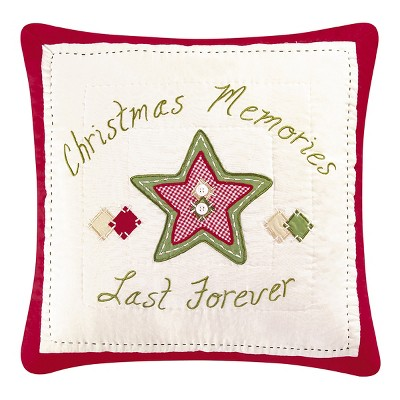"""C&F Home 16"""" x 16"""" Christmas Memories Quilted Pillow"""
