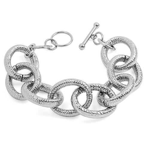West Coast Jewelry Stainless Steel Large Link Bracelet