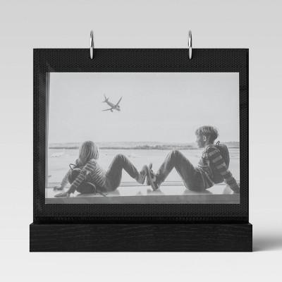 """4"""" x 6"""" Photo flip wood Base horizontal Black - Threshold™"""