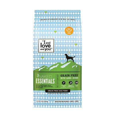 I and Love and You Naked Essentials Grain Free with Lamb & Bison Holistic Dry Dog Food