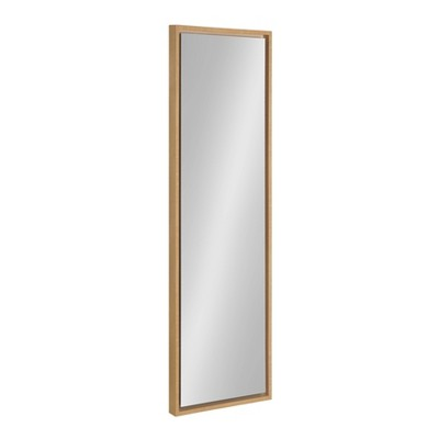 """16"""" x 48"""" Evans Framed Wall Panel Mirror Natural - Kate and Laurel"""