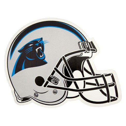purchase cheap 26225 e8490 NFL Carolina Panthers Small Outdoor Helmet Decal