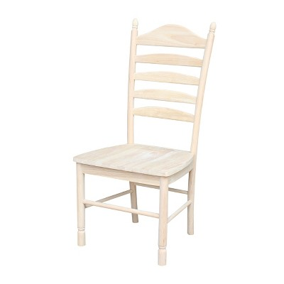 Set of 2 Bedford Ladderback Chair Unfinished - International Concepts
