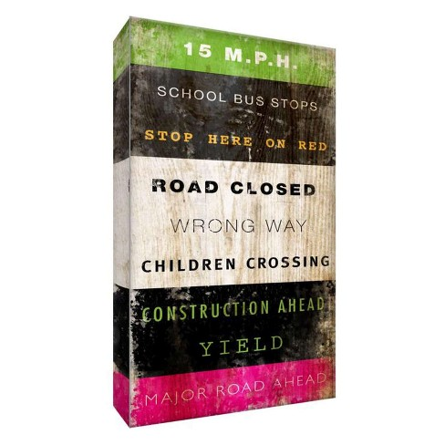 """Road Closed Decorative Canvas Wall Art 11""""x14"""" - PTM Images - image 1 of 1"""