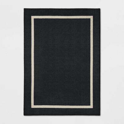 5'x7' Good Fashion Frame Border Rug Black - Room Essentials™