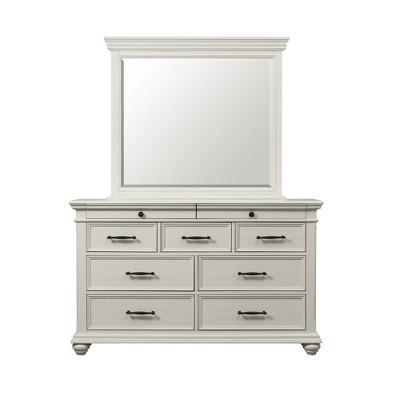 Brooks 9 Drawer Dresser with Mirror Beige - Picket House Furnishings