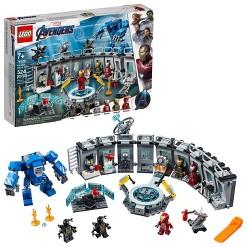 LEGO Marvel Avengers Iron Man Hall of Armor Superhero Mech Model with Tony Stark Action Figure 76125