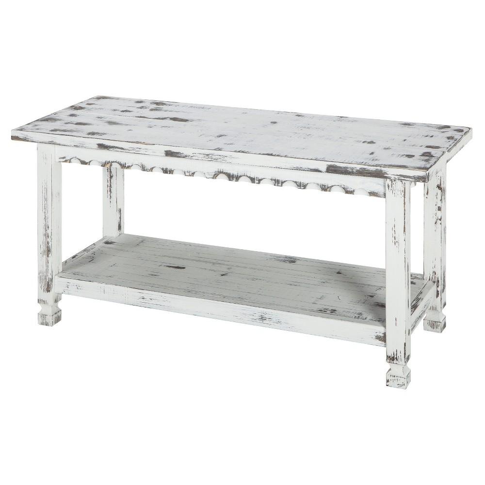 "Image of ""36"""" Bench Hardwood White - Alaterre Furniture"""
