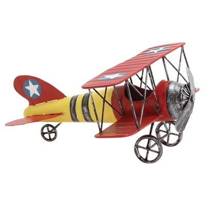 """Vintage Reflections Rustic Iron Model Propeller Airplane (12"""") - Olivia & May"""