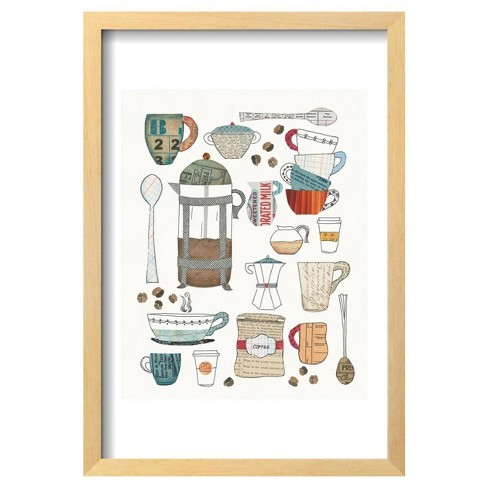 "Coffee Chart Ii V2 By Courtney Prahl Framed Poster 13""X19"" - Art.Com - image 1 of 3"