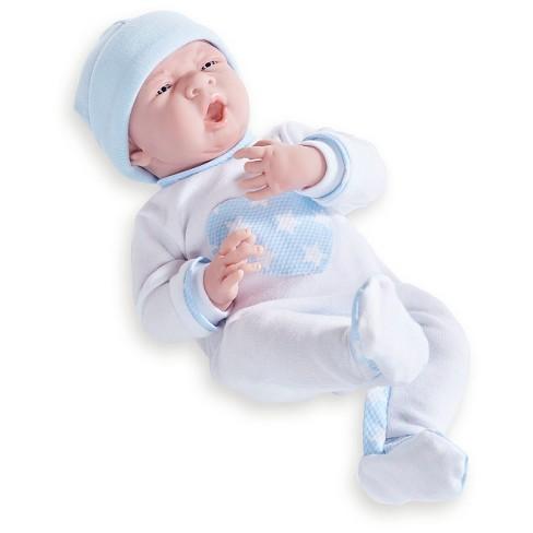 "JC Toys La Newborn 15"" Boy Doll - Blue Heart Pajamas - image 1 of 3"