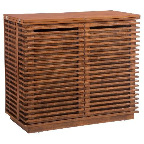 Mid Century Modern 41 5 Bar Cabinet Walnut Zm Home