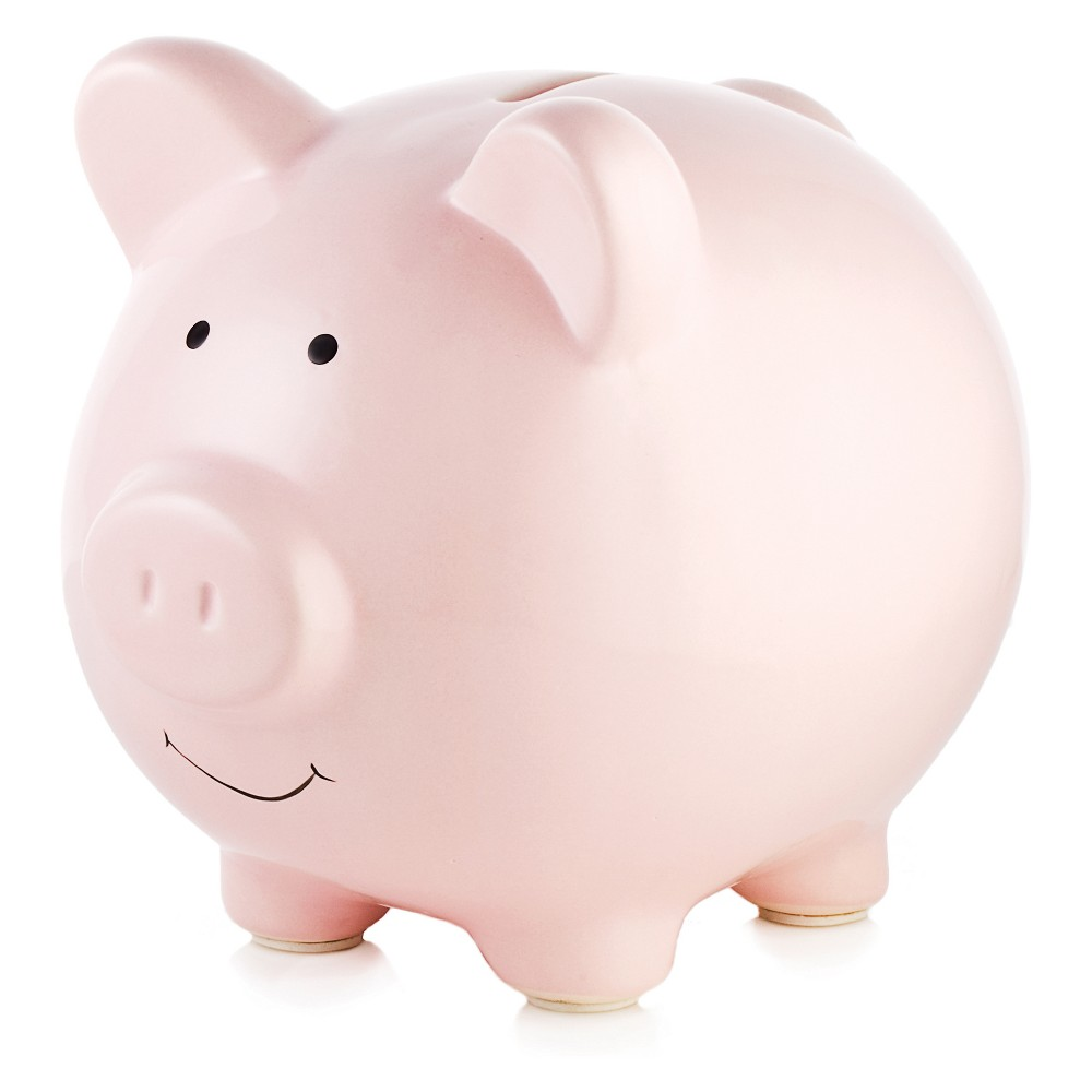 Image of Pearhead Ceramic Piggy Bank - Pink