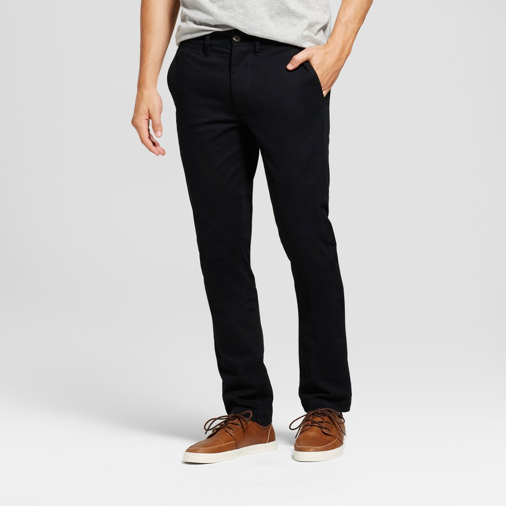 Men's Skinny Fit Hennepin Chino Pants - Goodfellow & Co Black 33X32