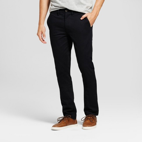 Men's Skinny Fit Hennepin Chino Pants - Goodfellow & Co™ Black - image 1 of 4