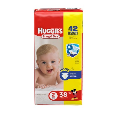 Huggies Snug & Dry Diapers - Size 2 (38ct)