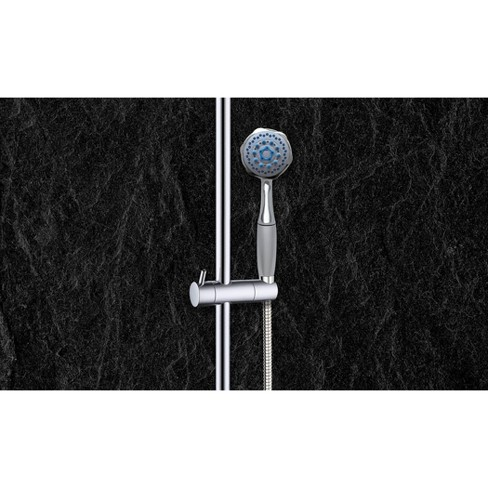 Universal Multi Function Hand Held Shower Head with Chrome Finish with Hose Chrome - Coby - image 1 of 1