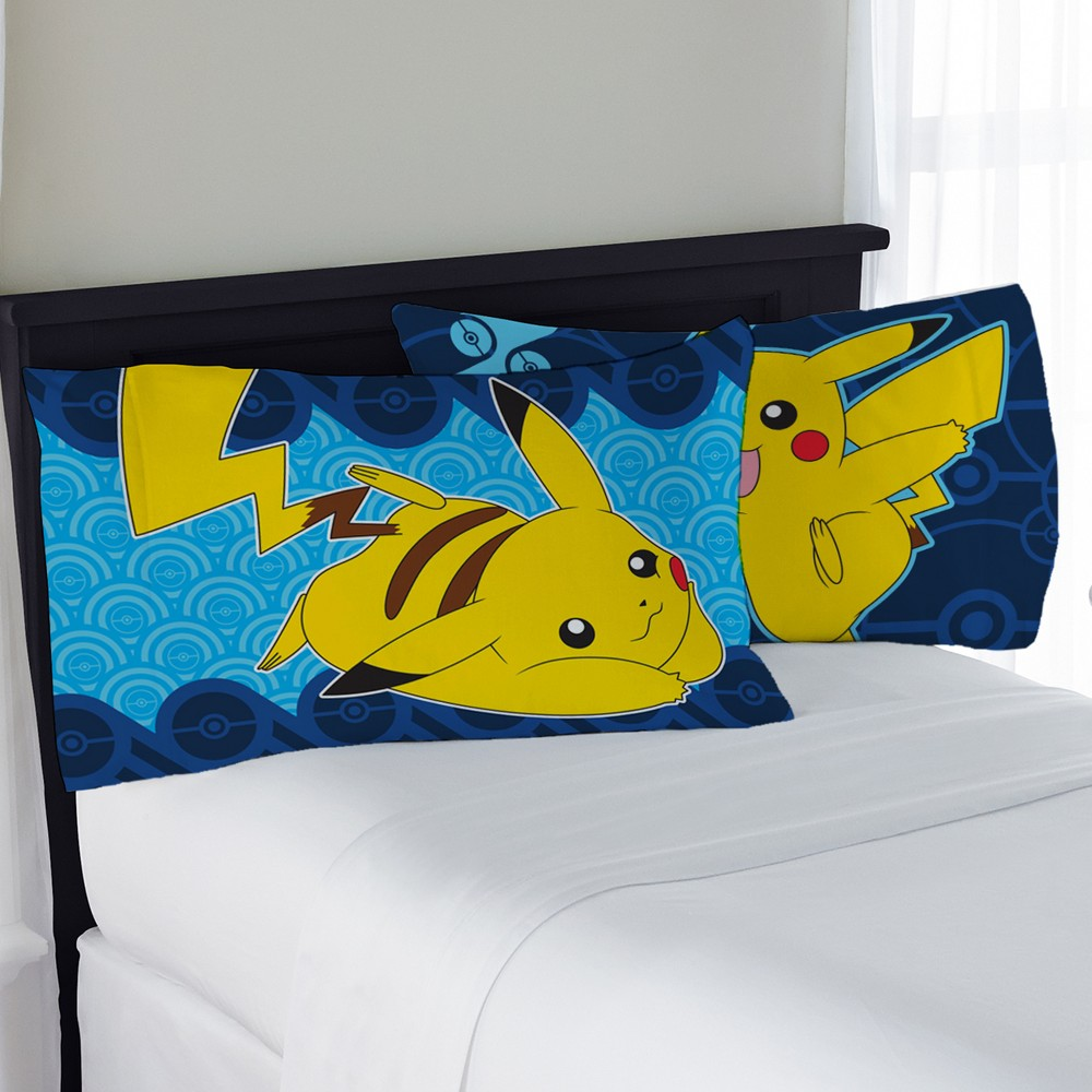 Pokemon Pillow Cases (Standard) Pokemon Pillow Cases (Standard) Color: Blue. Gender: Unisex. Pattern: Fictitious character.