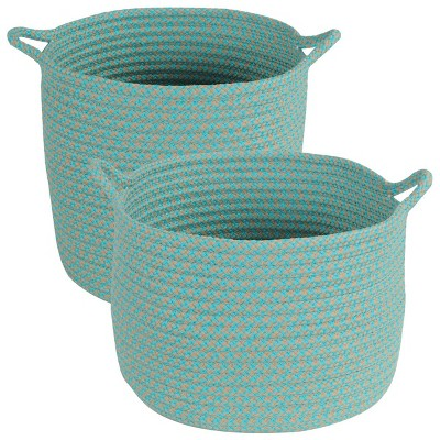 Colonial Mills Outdoor Storage Baskets - Set of 2