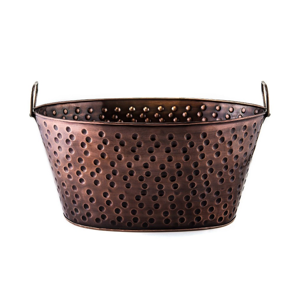 Image of Old Dutch 4gal Galvanized Steel Antique Beverage Tub Copper