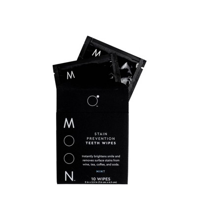 Moon Stain Prevention Teeth Wipes - 10ct