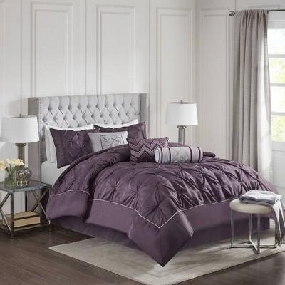 Piedmont 7 Piece Comforter Set - Plum (Queen)