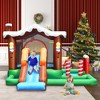 Costway Inflatable Bouncer Snow House Jump ClimbingSlide Ball Pit w/ tunnel & Blower - image 3 of 4