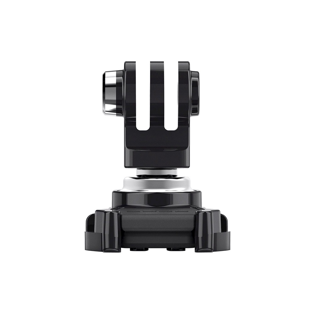GoPro Swivel Mount - Black (Abjqr-001) This versatile mount securely attaches any Hero Session camera to create a sleek, low profile that's easily adjusted. The Low-Profile Frame positions your camera close to your helmet, and Swivel Mount lets you aim your camera with a wide range of rotate and pivot motion. Capture forward- or rear-facing videos and photos with a simple twist and turn without having to stop or un-mount your camera. Pair it with any Hero Session camera for the most compact camera mounting option from GoPro. Color: Black.