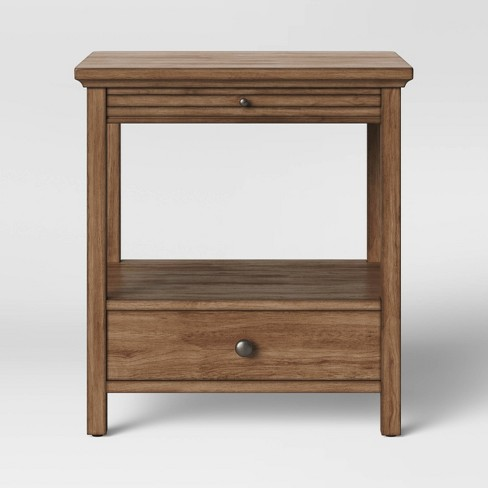 Shelburne Nightstand with Drawer and Pull out Shelf - Threshold™ - image 1 of 4