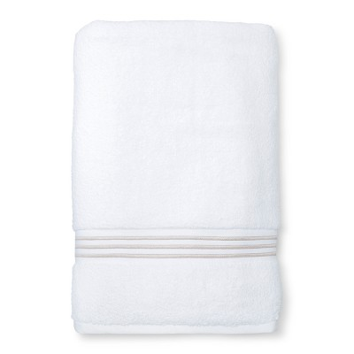 Microcotton Spa Bath Sheet Tan Stripe - Fieldcrest®