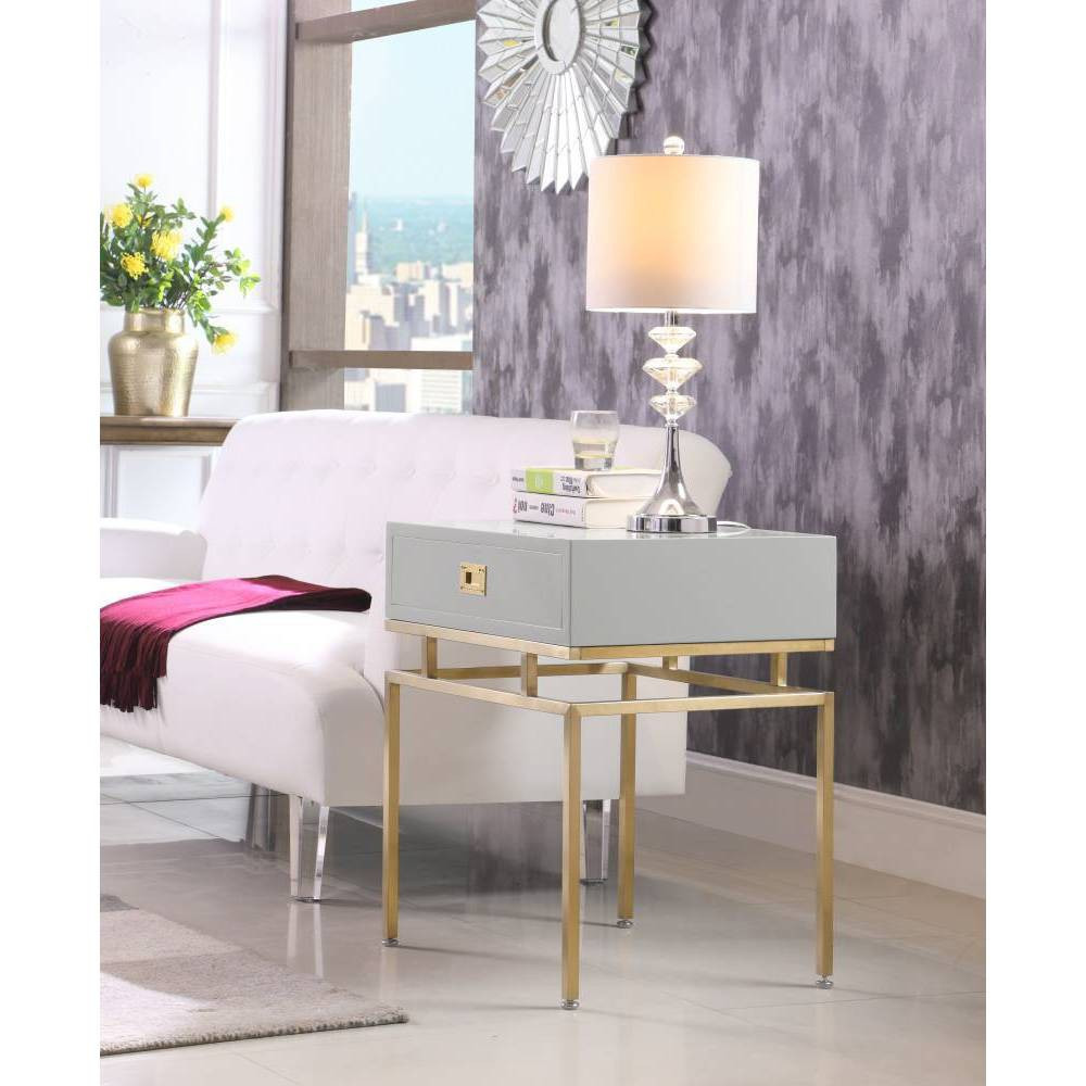 Banchi Side Table Gray - Chic Home Design was $459.99 now $275.99 (40.0% off)