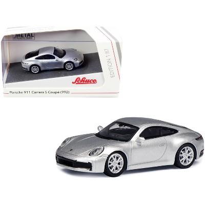 Porsche 911 (992) Carrera S Coupe Silver 1/87 (HO) Diecast Model Car by Schuco