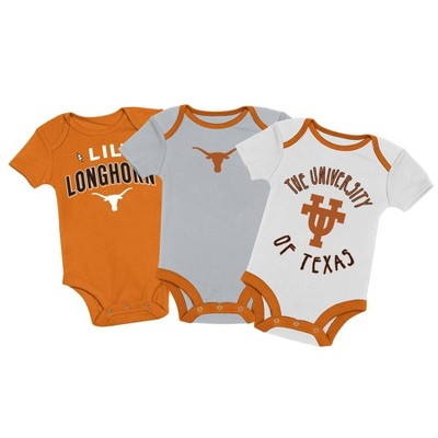 NCAA Texas Longhorns Baby Boys' 3pk Bodysuit Set