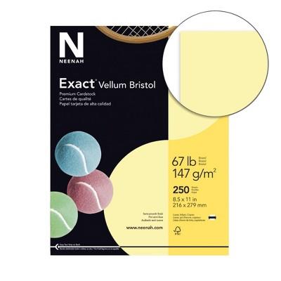 Exact Vellum Bristol Cardstock, 8-1/2 x 11 Inches, 67 lb, Yellow, pk of 250